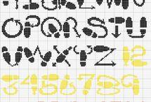 Alfabeti, numeri e scritte