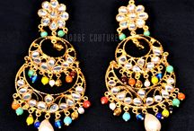 Earrings / Indian traditional jewellery.