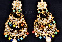 Earrings / Indian traditional jewellery.