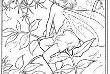 Colouring flower fairies