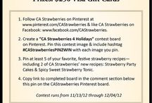 CA Strawberries 4 Holidays / by Jennifer Speed