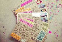 Snail Mail / Pocket letters and happy mail ideas / by Bree Tetz