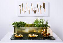 Tuju Tools / Chef tools in golden steel for Wallpaper Handmade*