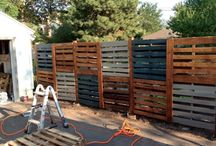 Fences and garden / Pallets