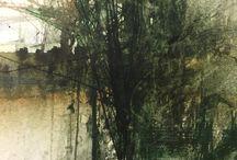 fák festményen
