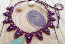 Macramé jewelry
