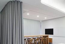 Tilanjakajaverhot, room divider curtains