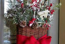 Vánoce  dekorace na dveře