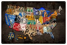 License Plate Image Decor