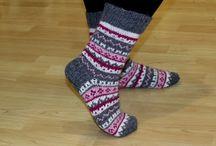 Knitting - socks coloured