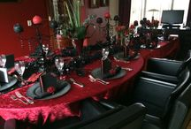 Christmastable red black kerstmis / Christmastable abd decorations Red Black