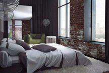 Alcoba principal piso madera y ventanales