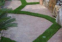 Césped artificial / Decoración para exteriores y para interiores. Fabulosas ideas y propuestas para decorar con hierba artificial.