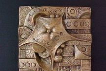 Pottery - tile, bas relief / Tiles, bas relief, high relief pottery that I find interesting, inspiring or just fun! / by Andrea Renzi McFadden