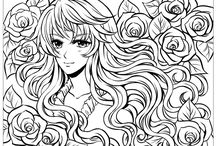 Manga coloring pages / The Manga is a famous Art very popular from Japan. Print and Enjoy with your favorite character ... For more content >> http://www.coloring-pages-adults.com/manga #manga