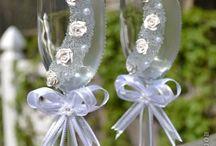 Copas de vino decoradas