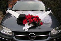 Svadobne auto vyzdoba