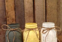 painted mason jars / by Amy Evans