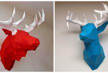 diy polygonal mask paper