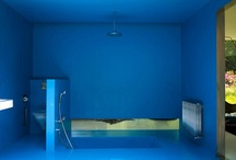 Capsule / One color interiors with epoxy, resin or mosaic materials