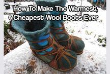 How to make the warmest cheapest wool boots ever