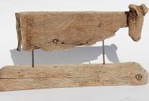 Esculturas / Fierro y madera