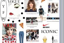 Iconic Mood Board / Here is my mood board. The theme is iconic to show who i want to become and what i find iconic based on what inspires me and what i see as iconic within my wardrobe or interests of fashion.