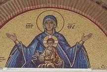Η Παναγία και Άγιοι