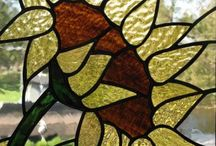 stained glass sun flower