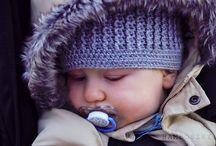 Luźna czapka szydełkowa / Luźna czapka szydełkowa dla niemowlaka wiek 6 m-cy