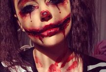 creepy clowns / Clown makeup