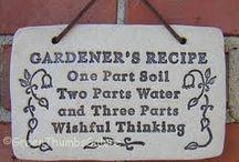 Citater og kloge ord / Der er mange gode ting at sige om havearbejde!