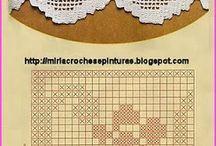 Artesanato e Faça você mesmo / Bicos de croche para pano de prato