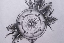 Kompassi tatuoinnit