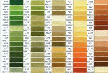 Coduri de culori pentru fire textile