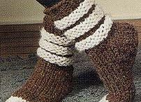 crochet boot cuffs,socks & slippers / by Kelly Thompson