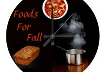 █▓▒░* FOODS FOR FALL & THANKSGIVING░▒▓█ / Foods that are made with things that are plentiful in fall, such as pumpkins and foods that look like fall. :) / by Dandy Mariella