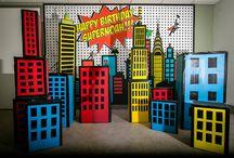 fiesta de superheroe