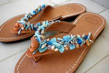 handmade decorated sandals