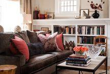 Brown Red Sofa