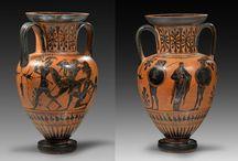 Greek Attic black-figure vases / Antimenes painter - Greek attic black-figured vase - Greek attic black-figure vase - Minotaur - Attic dinos