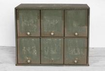 Apothecaries, spice cabinets, drawers and cubbies / by Linda Riley