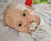 Aquarel portret peuters / Aquarel portret kinderen
