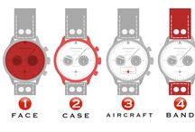 Squadrons / Projects we are currently working on with different air squadrons to create a customized watch with an aircraft silhouette on the watch dial and engraved logos on the back of the watch.