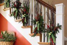 χριστουγεννιατικη διακόσμηση σκαλας