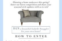 Competitions / Is your home in need of a seasonal makeover? Enter our competition to WIN a Isabelle Snuggler for your home!  To find out more information and our T's & C's head over to our blog: http://www.parkerknoll.co.uk/blog/introducing-our-spring-pinterest-competition/