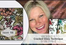 Cracked Glass Technique Stampin Up