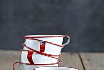 tin plates and cups