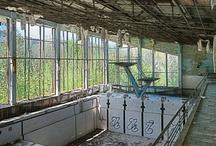 "Swimming pool"" LAZURNY "" in Chernobyl Pripyat"