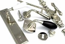 French doors, entry, exterior / Lock and handle hardware options suitable for our entry doors.